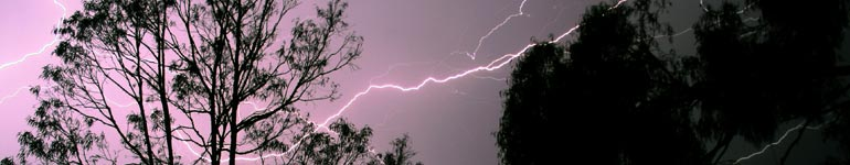Lightning at Wartook Gardens