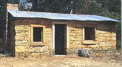 Hut made from local stone